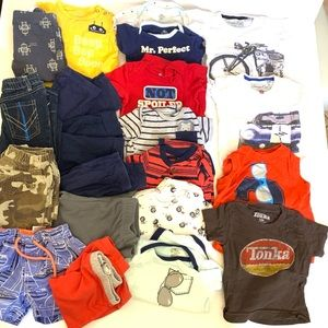 Baby Boy 12 month Clothing Lot 21 Pcs